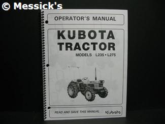 kubota l235 parts l235 l275 owners manual