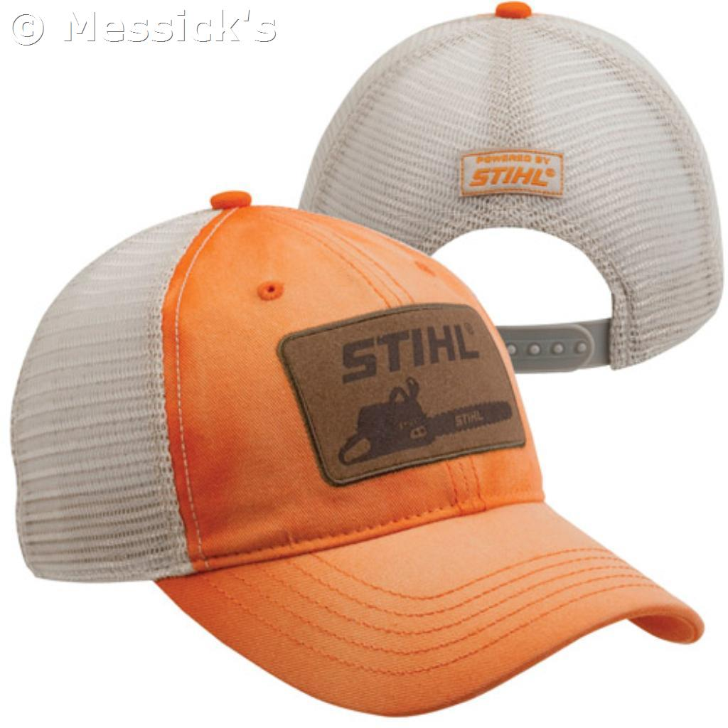 Apparel Amp Collectibles Stihl Washed Orange Twill Cap