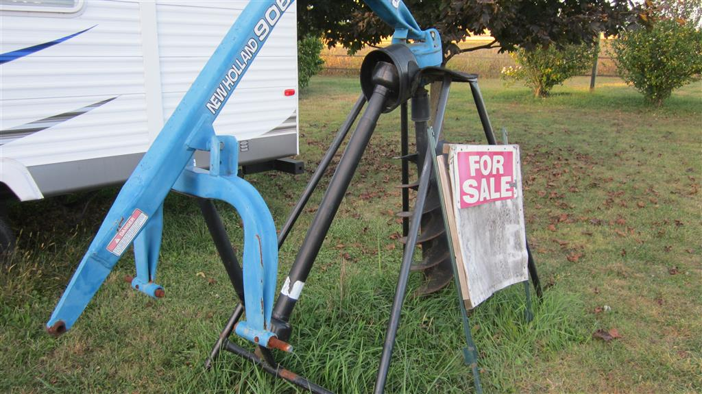 how to make post hole digger stand