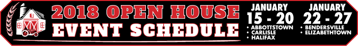 Messick's 2018 Open House Schedule