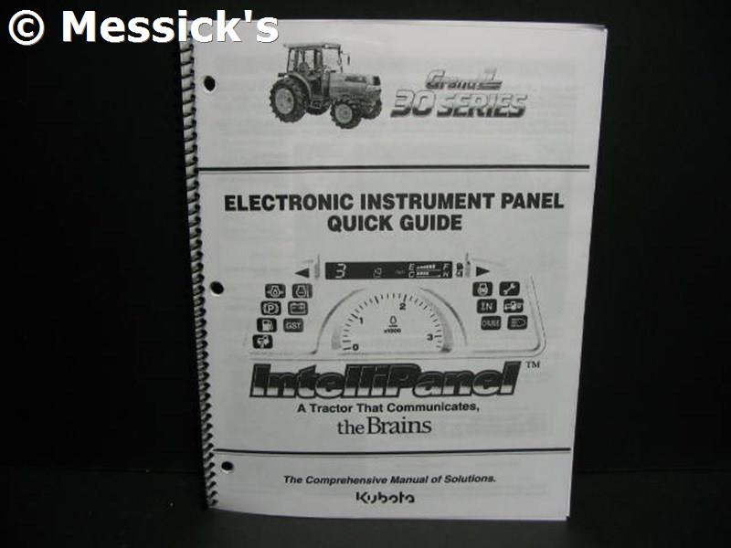 Kubota: Grand L30 Instrument Panel Electrical Guide, Part # 97897-51410