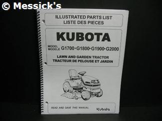 Kubota G1800 Parts on