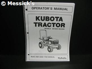 kubota: bx1800 bx2200 operators manual  part number: k2561-71215 part  number: k2561-71215