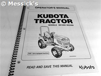 Kubota: BX1850 BX2350 Operators Manual