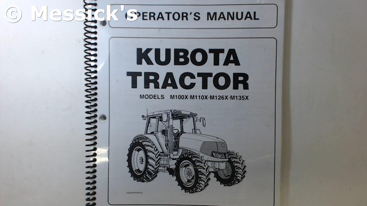 Kubota M-Series Owners Manuals