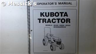 Kubota: B2320 B2620 B2920 Operators Manual
