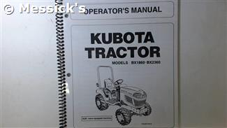 Kubota: BX1860 BX2360 Operators Manual