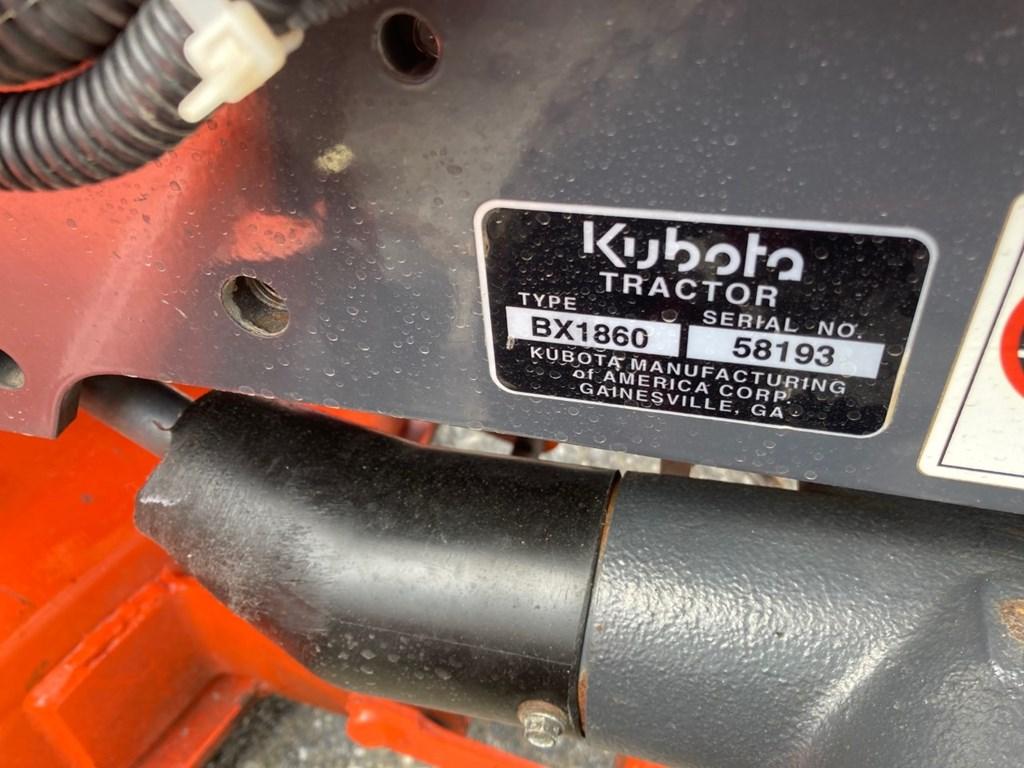 Used KUBOTA BX1860TV54 $8,995.00