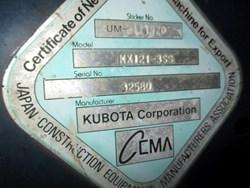 Used Kubota KX121
