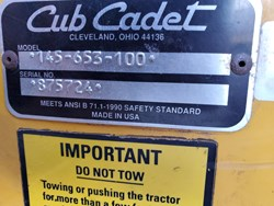 Cub Cadet 1641 used picture